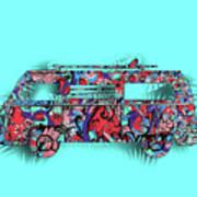 Retro Camper Van 3 Art Print