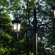 Retro Chic Streetlamps - Old World Charm With A Modern Twist Art Print
