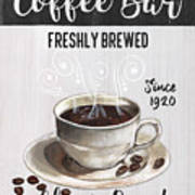 Retro Coffee Shop 2 Art Print