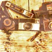 Retro Film Cameras Art Print