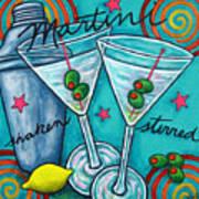 Retro Martini Art Print