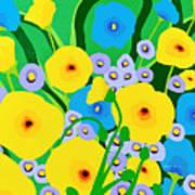 Retro Meadow Art Print