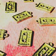 Retro Music Tapes Art Print