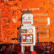 Retro Robotic Nostalgia Art Print
