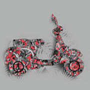 Retro Scooter 4 Art Print