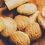 Retro Shortbread Biscuits In Old Kitchen Art Print