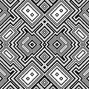 Retro Square Background Art Print