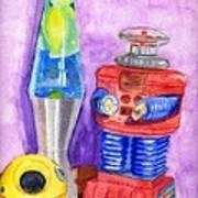 Retro Toys Art Print