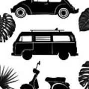 Retro Wheels Art Print