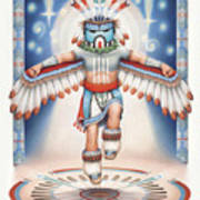 Return Of The Blue Star Kachina Art Print