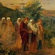 Returning From The Burial Of Christ Art Print