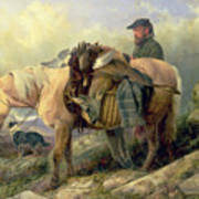 Returning From The Hill Print by Richard Ansdell
