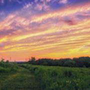 Retzer Nature Center - Summer Sunset #4  Art Print