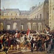 Revolution Of 1830 Departure Of King Louis-philippe For The Paris Townhall Horace Vernet Art Print