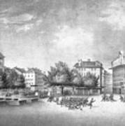 Revolution Of Geneva 1846 Place Bel-air Art Print