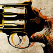 Revolver Trigger Art Print by Michael Tompsett