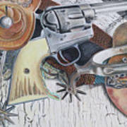 Revolver With Spurs Art Print