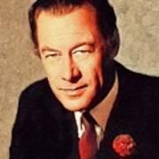 Rex Harrison, Vintage Actor Art Print