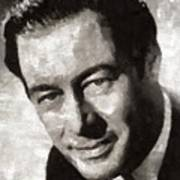 Rex Harrison, Vintage Hollywood Legend Art Print