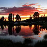 Reymann Lake Sunset - Yosemite Art Print