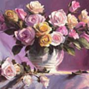 Rhapsody Of Roses Art Print