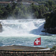 Rhine Falls In Switzerland Art Print