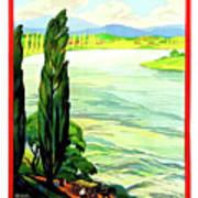 Rhine River, Alsace, France Art Print