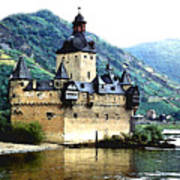 Rhine River Castle Art Print