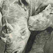 Rhino Love Art Print