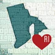 Rhode Island Cities Art Print