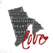 Rhode Island Love Art Print