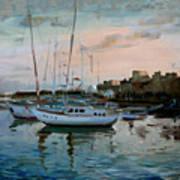 Rhodes Mandraki Harbour Art Print