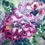 Rhododendron And Lily Of The Valley Art Print