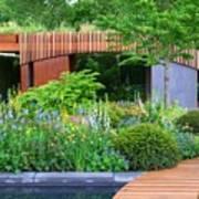 Rhs Chelsea Homebase Urban Retreat Garden Art Print