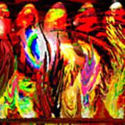 Rhythm Of The Dancing Fires Art Print