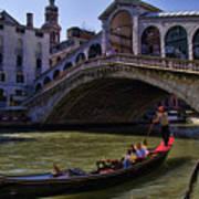 Rialto Bridge In Venice Italy Art Print