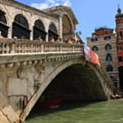 Rialto Bridge In Venice Art Print