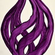 Ribbons Of Love-violet Art Print