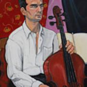 Ricardo With Cello Art Print