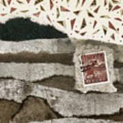 Rice Paddies Collage Art Print