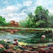 Ricefield Art Print