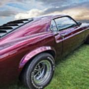 Rich Cherry - '69 Mustang Art Print