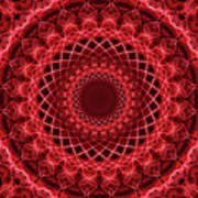 Rich Red Mandala Art Print