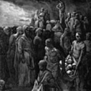 Richard I The Lionheart Massacres Captives In Reprisal 1877 Art Print