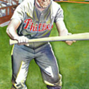 Richie Ashburn Topps Art Print by Robert  Myers