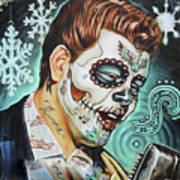 Richie Valens Day Of The Dead Art Print