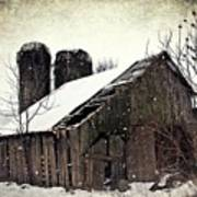 Rickety Old Barn Art Print by Stephanie Calhoun