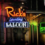 Ricks Sporting Saloon Art Print