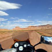 Ride To Little Wild Horse Slot Canyon Art Print