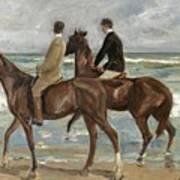 Riders On The Beach Art Print